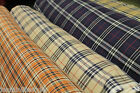 Unstitched Beautiful  Tartan Plain Linen Floral Design Curtain Linen Fabrics