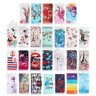For LG Smart Phone PU Leather Hybrid Rubber ID Card Slot Wallet Purse Case Cover