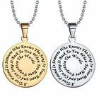 Personalized Fashion Jewelry Stainless Steel Bible Pendant Necklace Friend gift