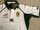S M L XL 3XL SOUTH AFRICA SPRINGBOKS CANTERBURY RUGBY SHIRT JERSEY WHITE