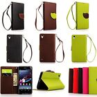 Luxury Fashion Leather Card Flip Wallet Case Stand Cover Pouch For Sony Xperia