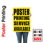 Full Colour Poster Print / Printing Service / Sizes A3 - A2 - A1 - A0 / 140gsm