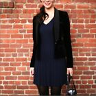 $228 BCBG MAXAZRIA 'Keila' Navy Blue V Neck Cable Knit Dress sz S M L NWT