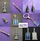 PICK YOUR CHARM ~ Clip On Tardis Police Box Doctor DR Who Dalek OR Earrings