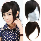 red hair with extensions - Clip In On 100% Remy Human Hair Handwoven Bangs Fringe With Sidebums Extensions