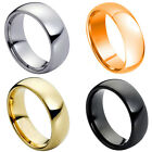 Black Tungsten Carbide Wedding Band Ring Mens Jewelry Comfort fit Classic Dome