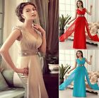 UK CLEARANCE Long Homecoming GRAD Evening Ball Gown Formal Prom Bridesmaid Dress