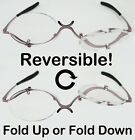 Quality Reversible Magnifying Glasses Flip Up Fold Down Makeup Cosmetic Make Up