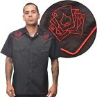Steady Clothing Casino Western Style Shirt Rockabilly Cards Punk Royal Flush