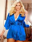 Silky Soft Satin and Lace Short Robe Plus Size 18 to 24