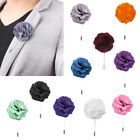 FLORAL FLOWER Lapel Pin Stick BOUTONNIERE Wedding Party CORSAGE Mens Accessories
