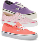 Ladies Vans Authentic Trainers Womens Casual Lace Up Shoes Low Top Footwear