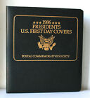 1986 Presidents U.S. First Day Covers Envelope Stamps Album #2