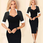 PLUS SIZE SEXY Women Vintage Style Pin up Cocktail Evening Party Pencil Dresses