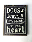 Sass & Belle Shabby Chic Fridge Magnet Dogs Cats Leave Paw Prints on your Heart