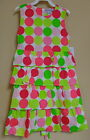 WILLOUGHBY BOUTIQUE GIRL'S PINK & GREEN POLKA DOT DRESS SLEEVELESS COTTON NEW