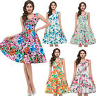 Ladies New 40's 50's Vintage Style FULL CIRCLE Rockabilly Swing Jive Skirt Dress