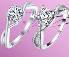 1.5Ct Ladies 925 Sterling Silver Eternity, Engagement, Wedding Ring-Diamond Style