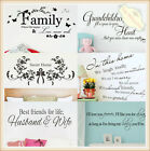 Quotes Wall Stickers Family Kids DIY Removable Vinyl Decal Mural Home Decor