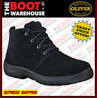 Oliver Work Boots 34640. Steel Toe Safety. 'Suede' Black Desert Boots. Brand New