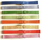 "12mm FLEURUS ""CANDY BANDS"" - FRANCE HAND MADE GENUINE LEATHER WATCH BAND / STRAP"