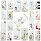 3D Bling Handmade Diamonds Wallet PU Leather Flip Case Cover For Samsung