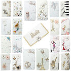3D Bling Handmade Diamonds Wallet PU Leather Flip Case Cover For Sony