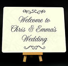 Personalised Welcome To Our Wedding Metal Plaque Sign