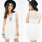 Fashion Women Summer Bandage Bodycon Lace Evening Party Cocktail Dress shirt NEW