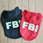 Puppy Dog Cat Pet Warm Lovely Coat fluorescence FBI Sweater Hoodies Clothes