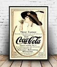 Coca Cola 1917 , Vintage soft drink advertising poster reproduction. £7.99  on eBay