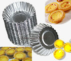 20pcs Cake Egg Tart Shell Liners Cup Mould Mold Pudding Baking Pan Tins 5 Size