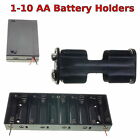 1-10 AA Battery Holder Box with Switch PP3 Clip/ Wire/ Solder Tags/ JR Lead
