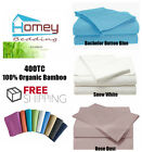 400TC 100% Organic Bamboo Luxury Bed Fitted Sheet - Queen Size