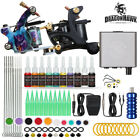 Complete Tattoo Kit needles 2 Machine Gun Power Supply 20 Color Ink Tip D175VD