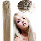 100% Remy Human Hair Extensions Mirco Ring Beads Tip Straight Hair 26Inch 100S