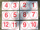 "RED 5"" WHEELIE BIN HOUSE NUMBERS STICKERS VINYL PEEL AND STICK HIGH VISIBILITY"