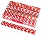 Candy Stripe Paper Party Straws 19Cm X 5Mm Multi Pack Assorted Colours Designs