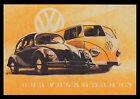 VOLKSWAGEN BEETLE AND CAMPER VAN GERMAN POSTER GLOSSY PHOTO PRINT 08