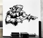 Wall Decal Pirate Captain Sailor Sea Rogue Corsair Ocean Vinyl Decal (ed308)