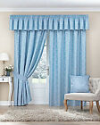 LANA - TOP VALUE - POPULAR TRADITIONAL FLORAL DAMASK CURTAIN - 8 COLOURS