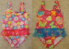 FISHER PRICE TODDLER GIRL'S ONE PIECE SWIM SUIT SWIMMING BATHING PINK BLUE
