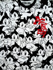 Ship From USA-ASTRO BOY Men's T-Shirt-All Over Black-With Red Velvet-White