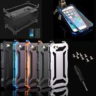 Water/Shockproof Aluminum Gorilla Glass Metal Case Cover For iPhone Models hqna