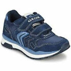 Boys Geox J Pavel A Nylon + Suede Navy Trainers CLEARANCE
