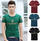 Fashion Boys Summer Casual Slim fit Shirts Crew Neck Short-Sleeved Men's T-shirt