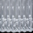 KERRY - BEAUTIFUL FLORAL NET CURTAIN - SOLD BY THE METRE - CUT TO WIDTH