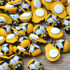 10/50/100pcs Yellow Bee Stickers Easter Fridge Scrapbooking Buttons W289