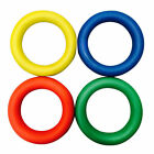 Sponge Rubber Quoits Hoop Colored Rings Traditional Fun Play Throw Game set