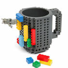 NEW Creative DIY Build-On Building Brick Coffee Mug -Building blocks Random 7792